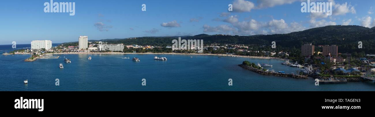 From the perspective of Cruise Terminal Ocho Rios - Jamaica - Stock Image