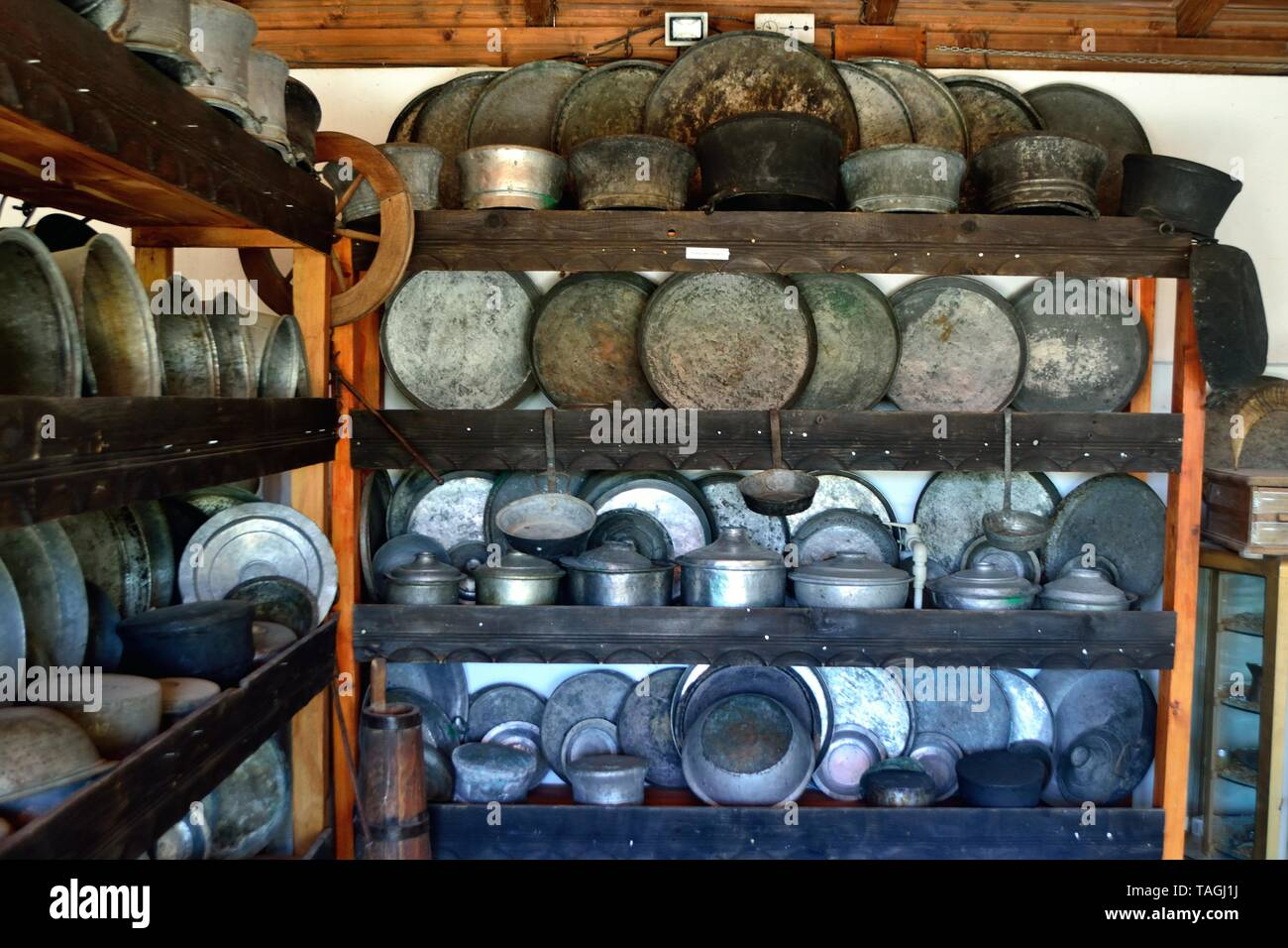 Traditional Kitchen -  Ethnographic complex Damascena Rose in KAZANLAK. Province of Stara Zagora.BULGARIA     											  					  			 	  	  			 	    	 - Stock Image