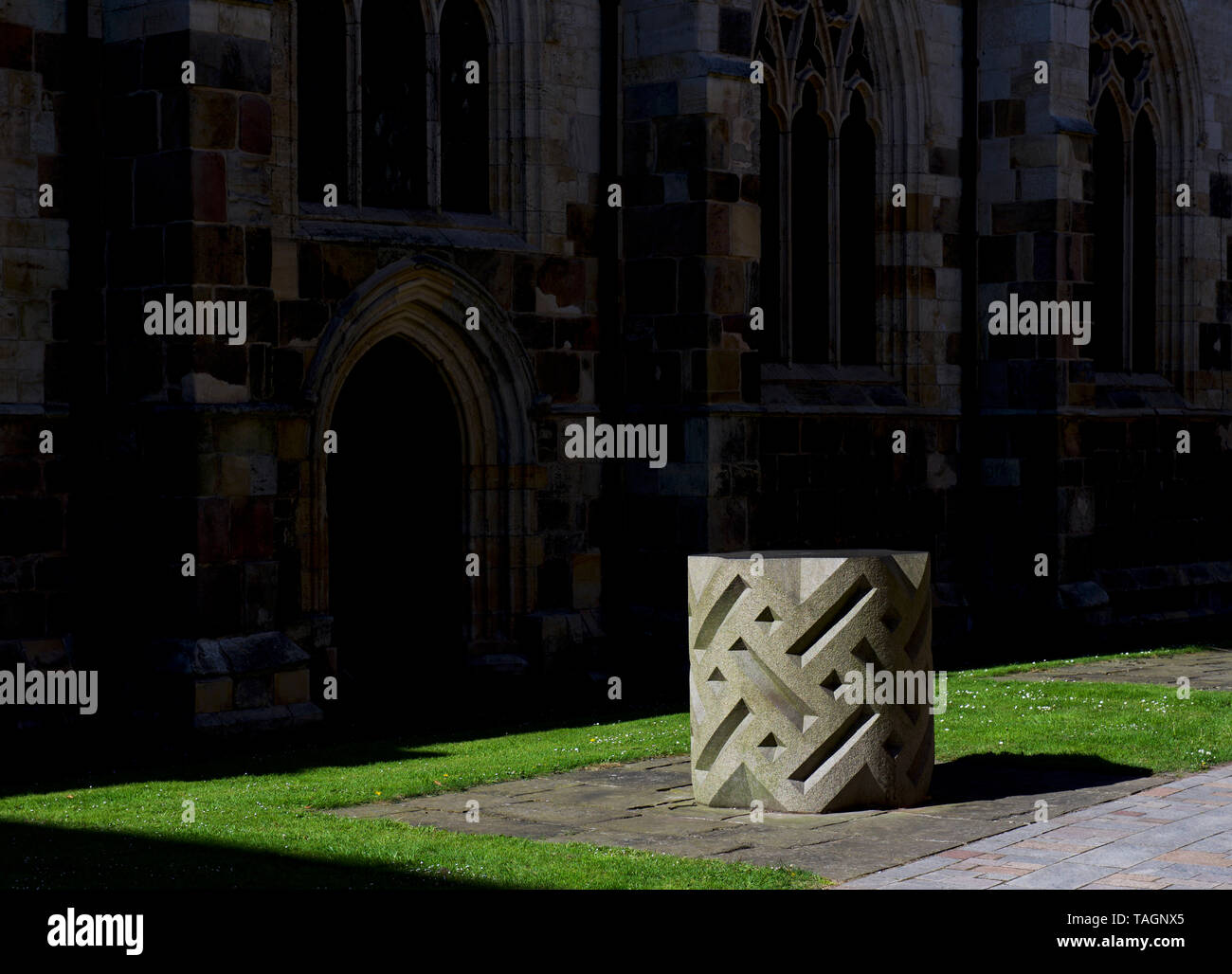 Sculpture by John Maine, RA, in Churchside, next to minster, Howden, East Yorkshire, England UK - Stock Image