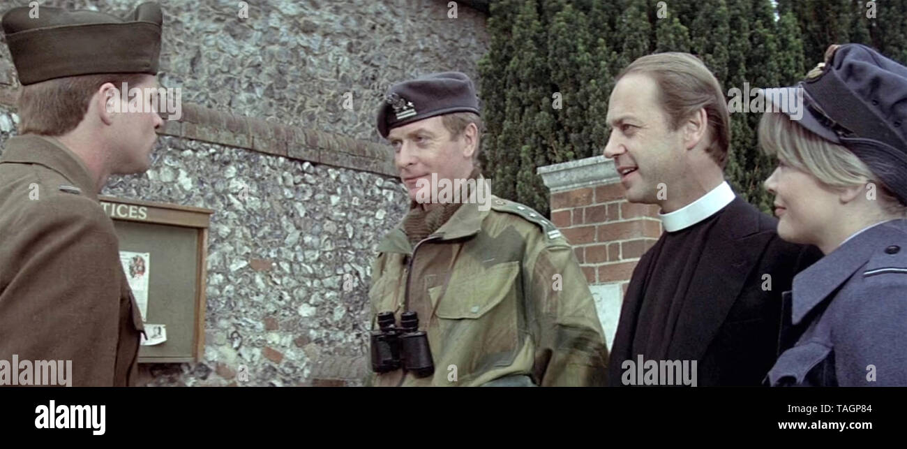 THE EAGLE HAS LANDED 1976 Associated General Films production with from left: Treat Williams,Michael Caine, John Standing, Judy Geeson - Stock Image