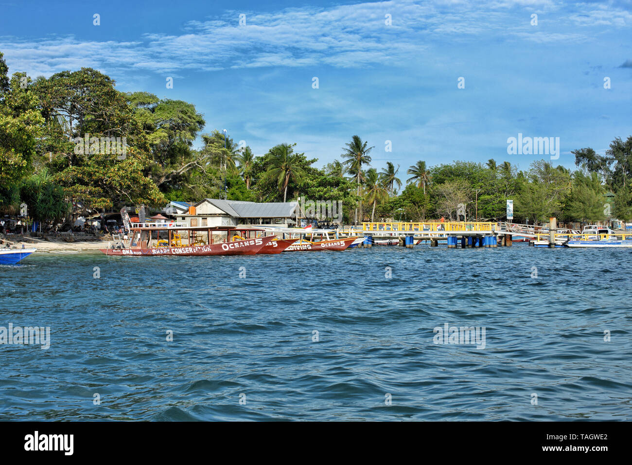 Harbor at Gili Air, Lombok, Indonesia - Stock Image