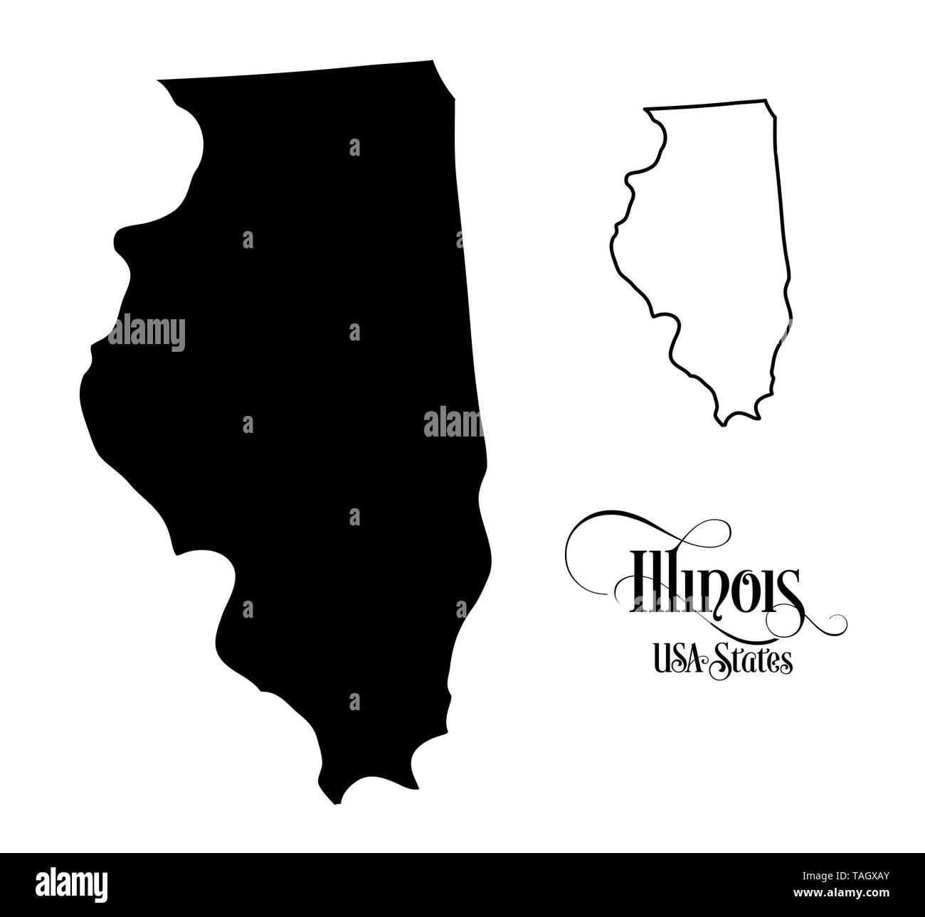Map of The United States of America (USA) State of Illinois ... Illinos On Map Of Usa on illlinos map, lllinois map, i'll road map,