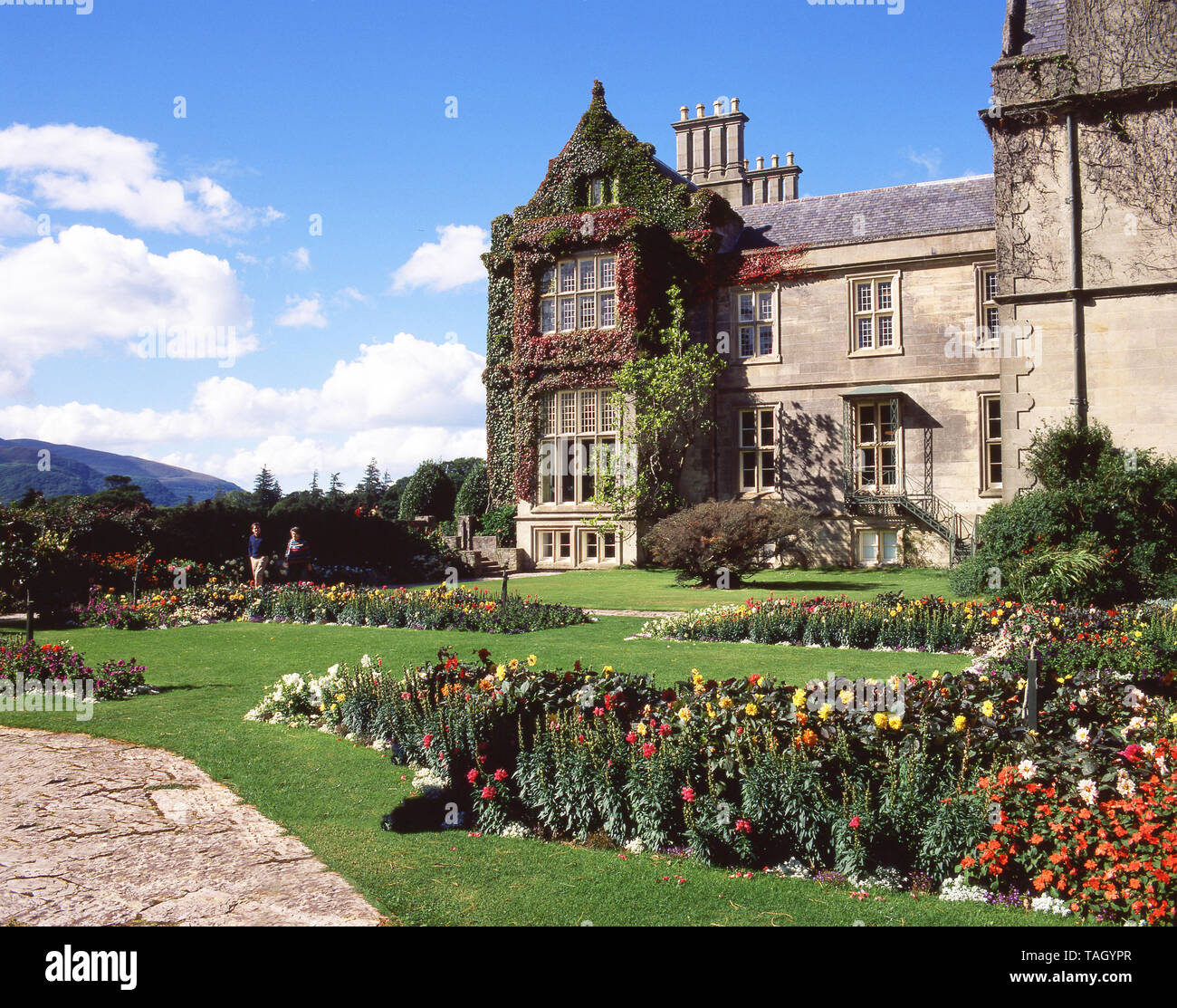 Gardens of Muckross House, Killarney National Park, County Kerry, Munster Province, Republic of Ireland Stock Photo