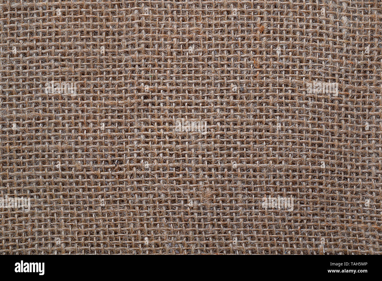 Sackcloth texture background.Old sackcloth close up copy space for text and design on sackcloth textured background - Stock Image