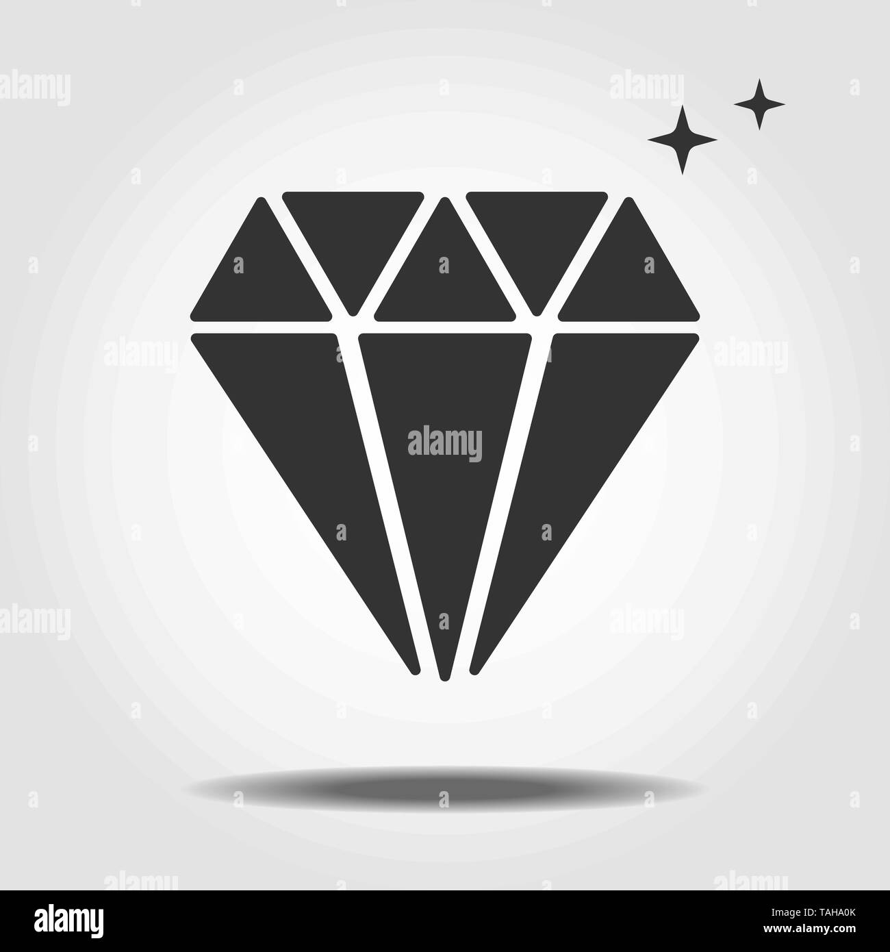 Isolated mineralogy icon symbol on clean background. Vector diamond element in trendy style eps10 - Stock Image