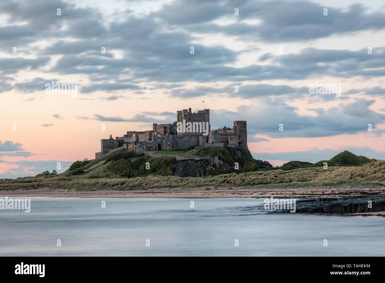 Bamburgh Castle, Northumberland, England, UK, Europe Stock Photo