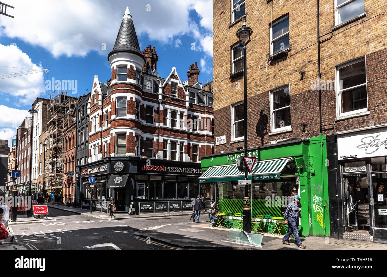 Dean Street, Soho, London, England, UK. - Stock Image