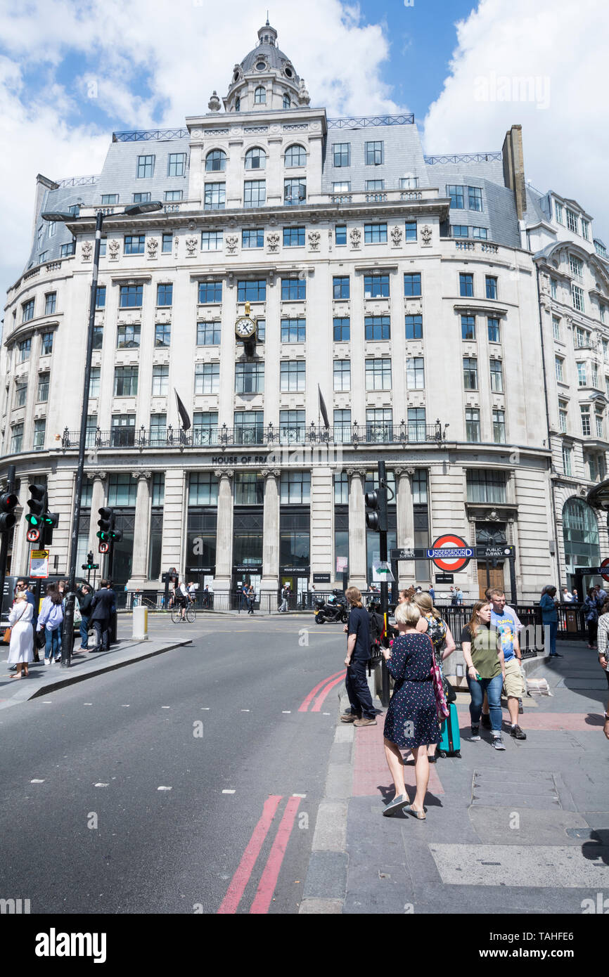 The exterior of House of Fraser, 68 King William Street, London, EC4, UK - Stock Image