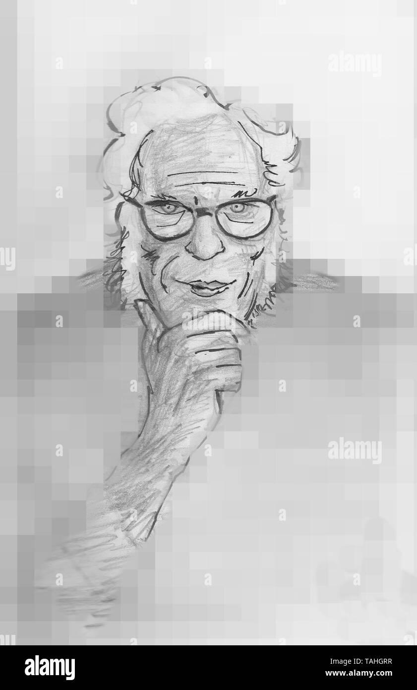 Isaac Asimov American science fiction writer. - Stock Image
