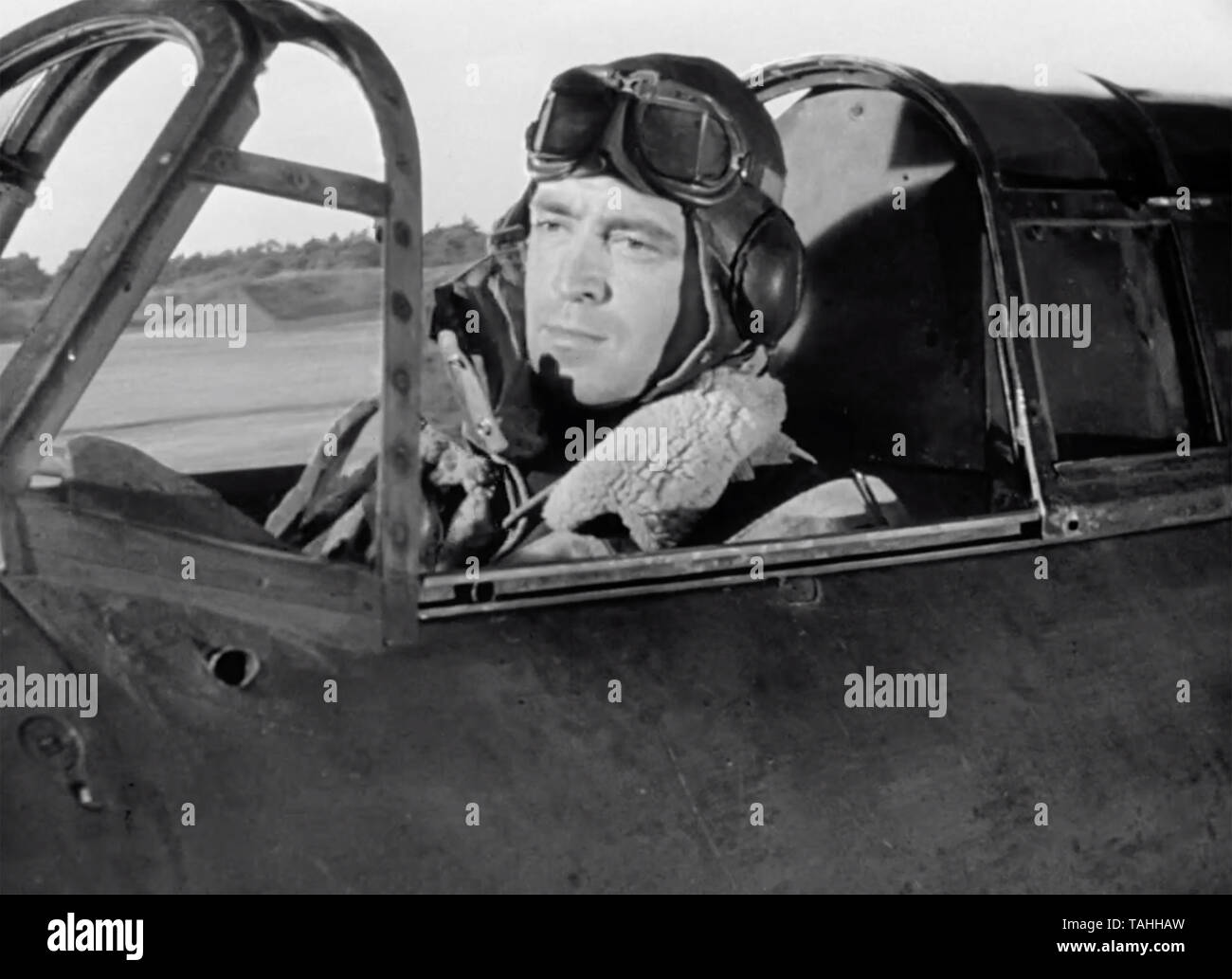 ANGELS ONE FIVE 1952 Associated British Studios film with John Gregson as Pilot Office Baird - Stock Image