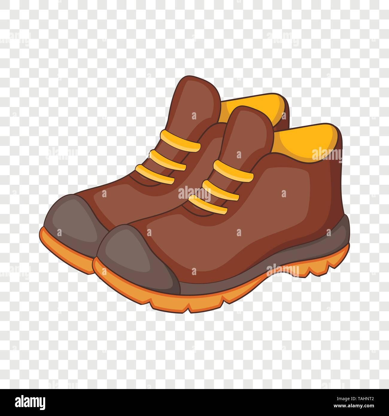 Hiking boots icon, cartoon style - Stock Image