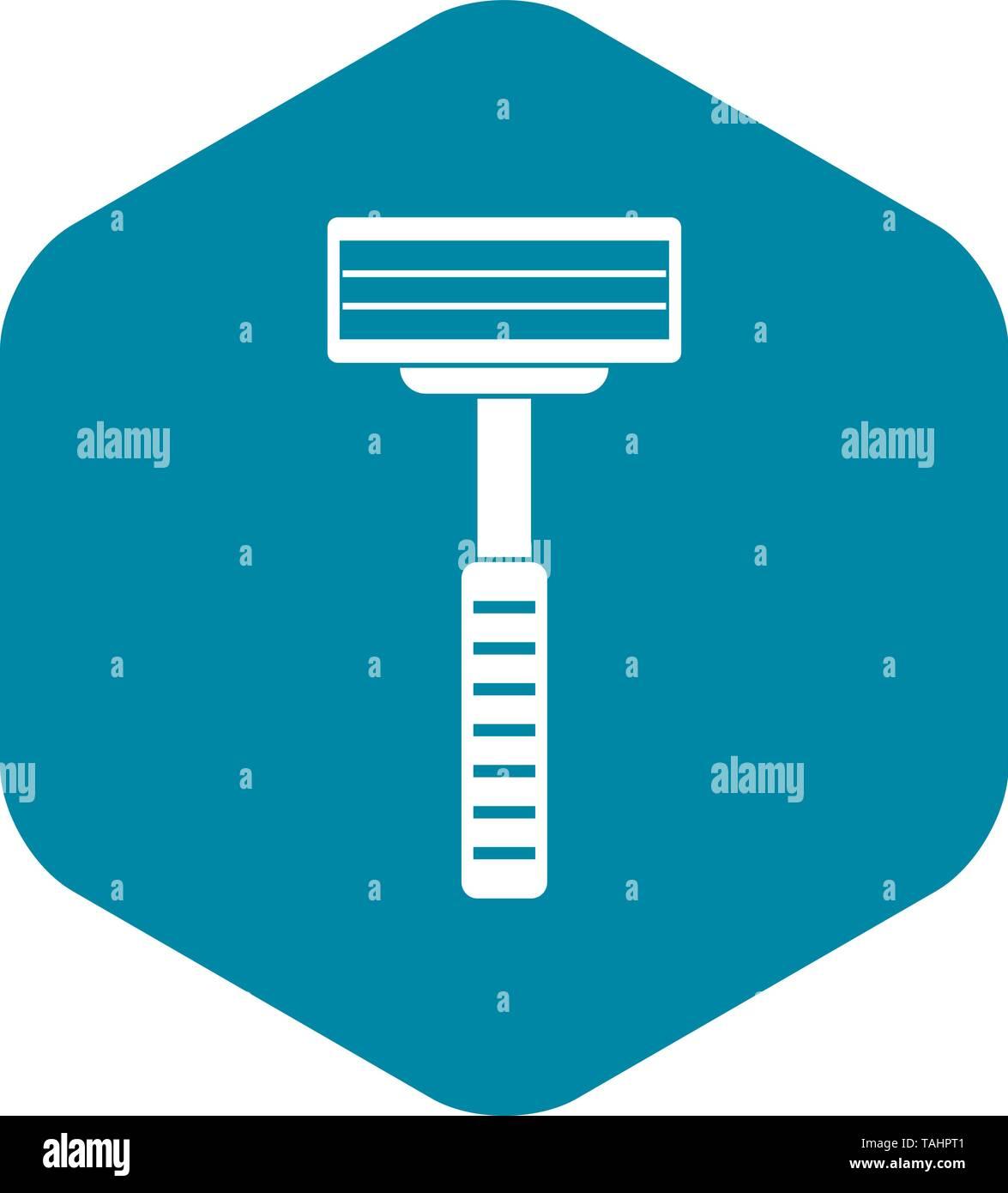 Razor icon, simple style - Stock Image