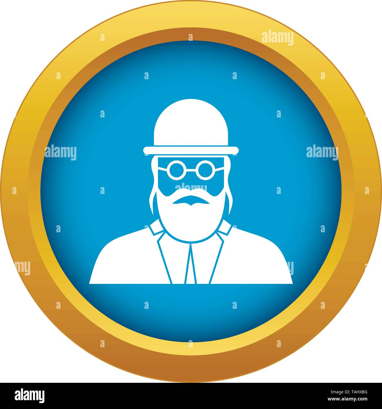 Orthodox jew icon blue vector isolated - Stock Vector