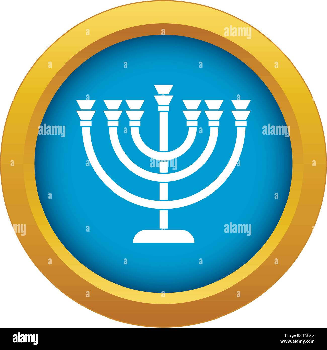 Menorah icon blue vector isolated - Stock Vector