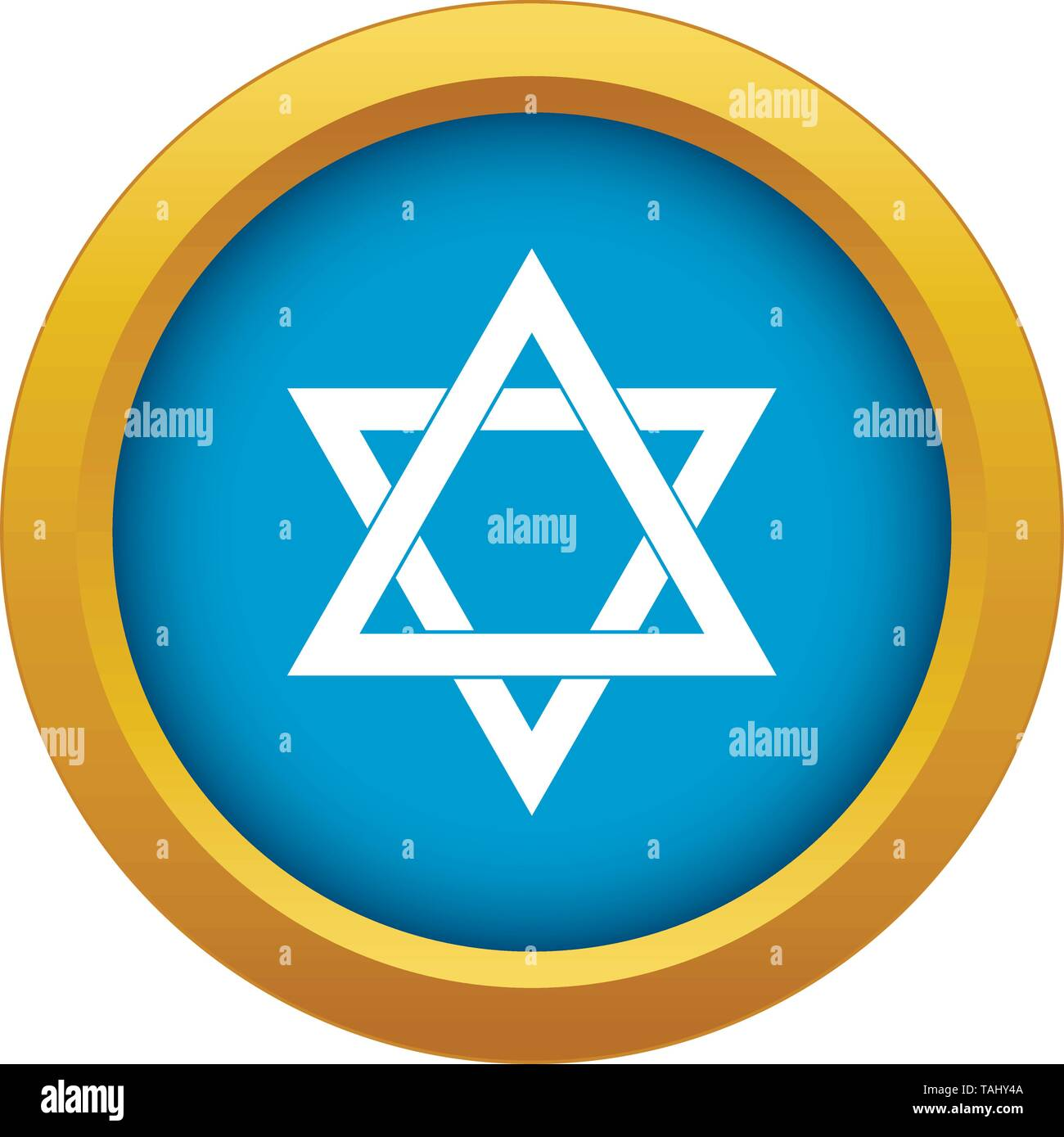 Star of David icon blue vector isolated - Stock Vector