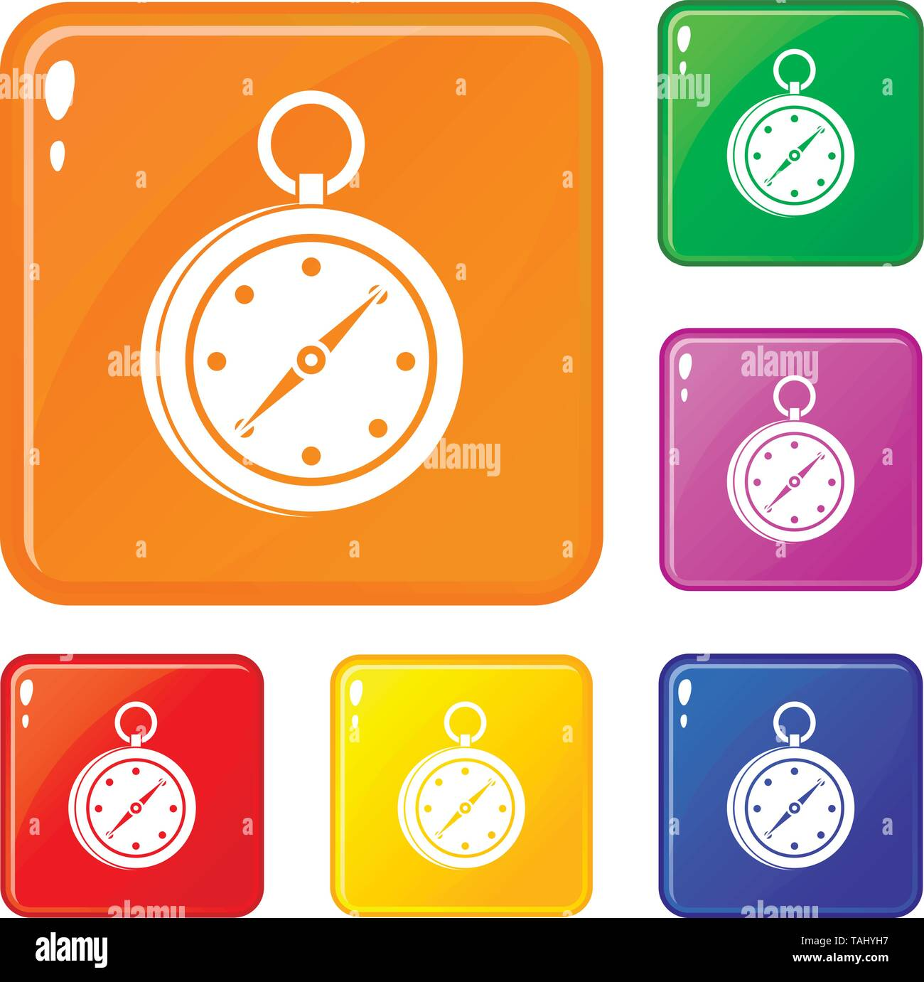 Multifunction knife icons set vector color - Stock Image