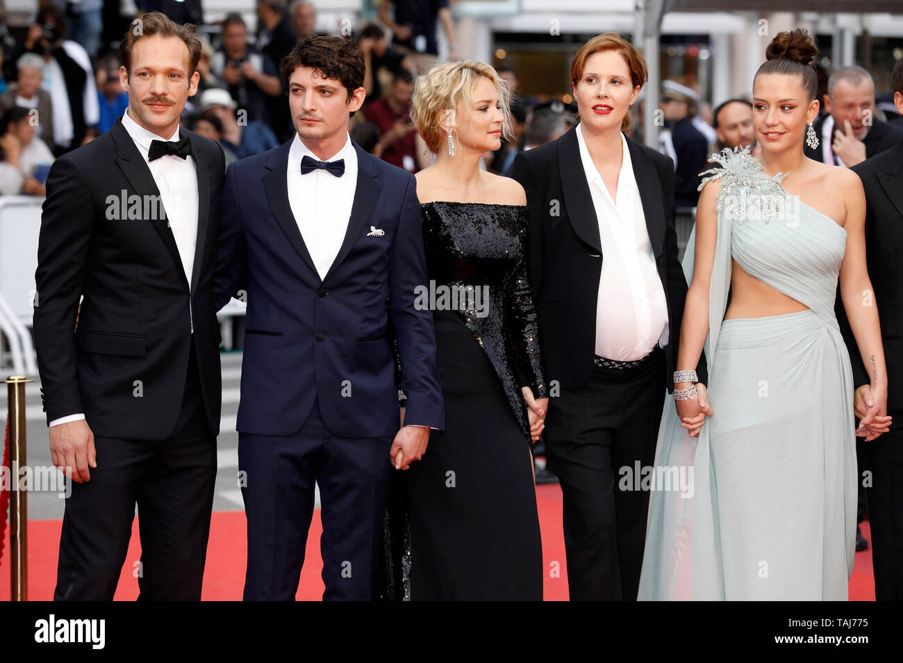 Cannes Film Festival France 25th May 2019 Paul Hamy Niels Schneider Virginie Efira Justine Triet Adele Exarchopoulos Attending The Sibyl Premiere During The 72nd Cannes Film Festival At The Palais Des Festivals