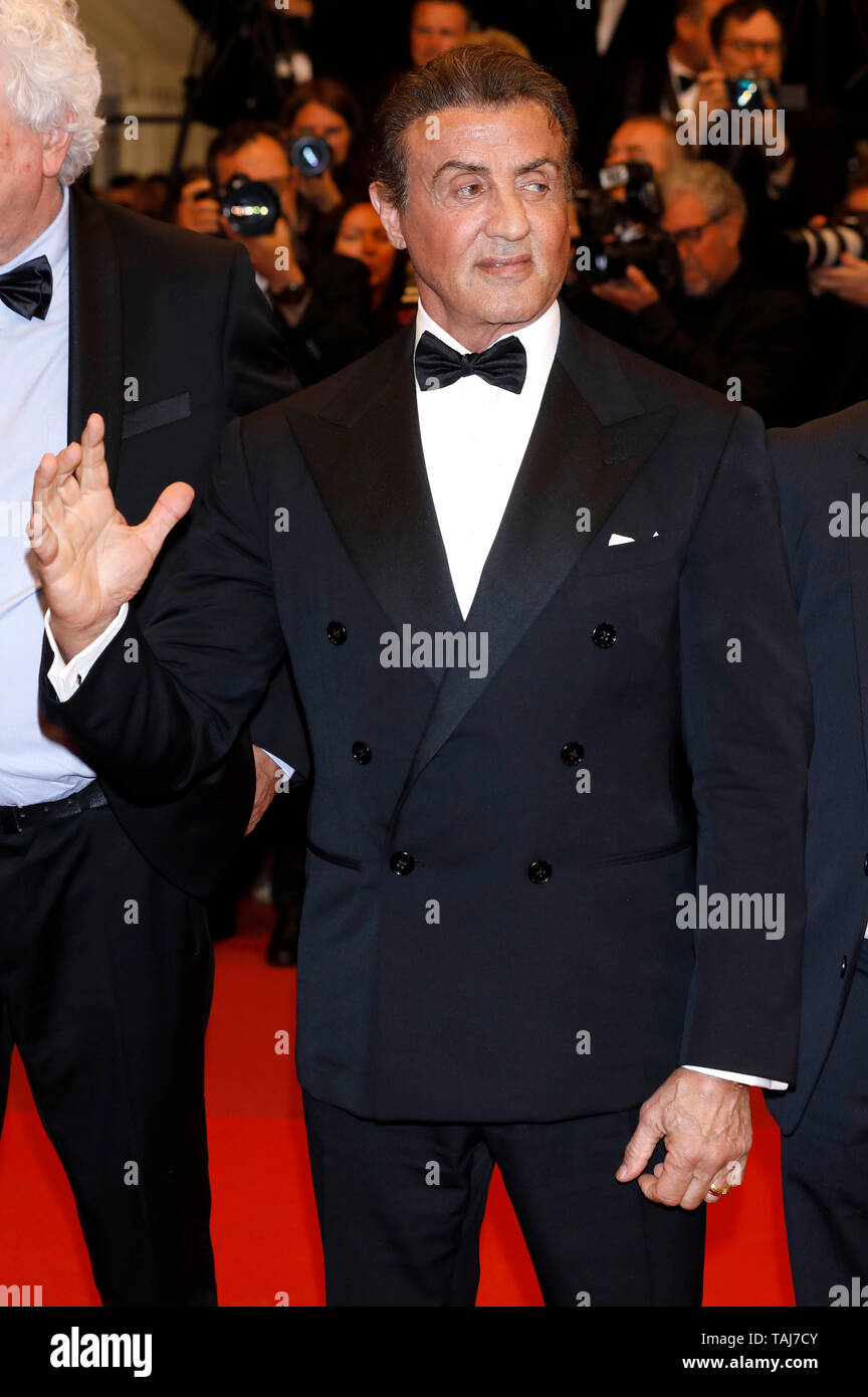 Sylvester Stallone attending the 'Rambo - First Blood' screening during the 72nd Cannes Film Festival at the Palais des Festivals on May 24, 2019 in Cannes, France Credit: Geisler-Fotopress GmbH/Alamy Live News - Stock Image