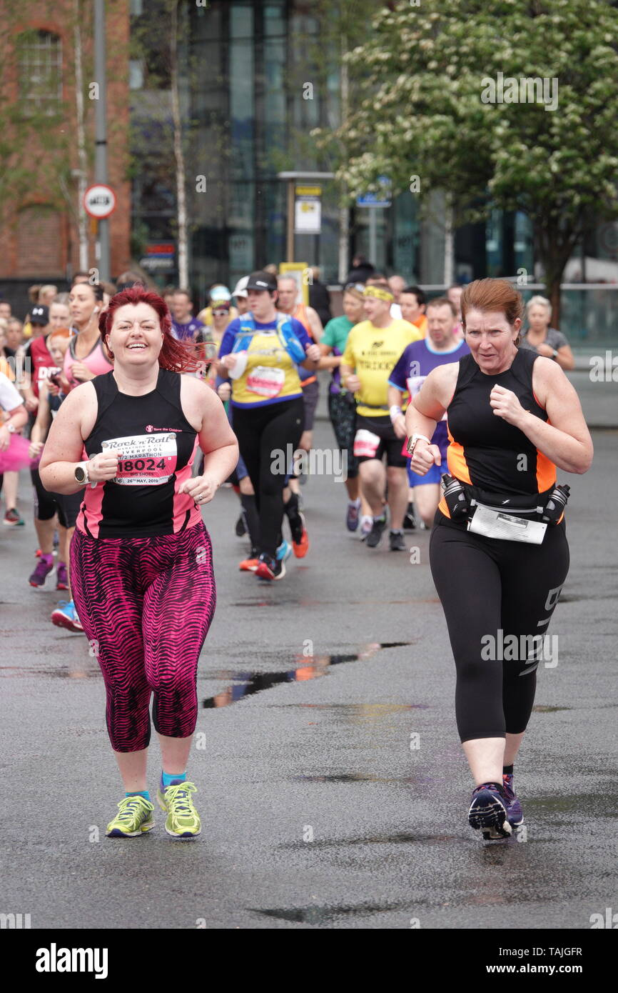Liverpool, UK  26th May 2019  Runners taking part in the
