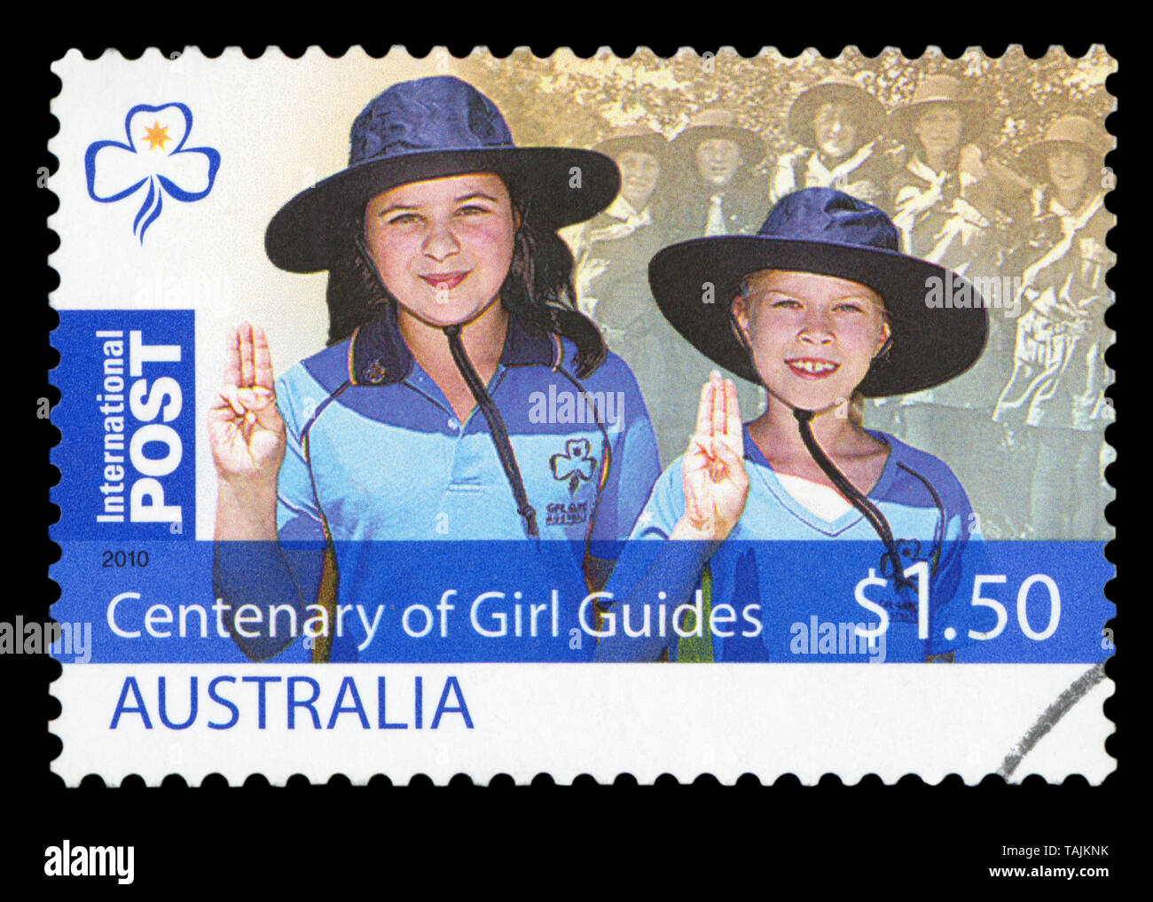 AUSTRALIA - CIRCA 2010: A used postage stamp from Australia, commemorating the 100th Anniversary of Girl Guides, circa 2010. - Stock Image