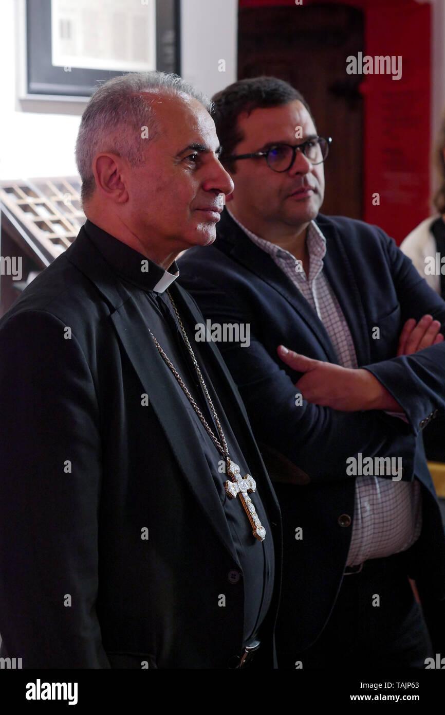 Mgr Najeeb Michaeel, Chaldean Archbishop of Mossul, appears in Lyon,  France - Stock Image