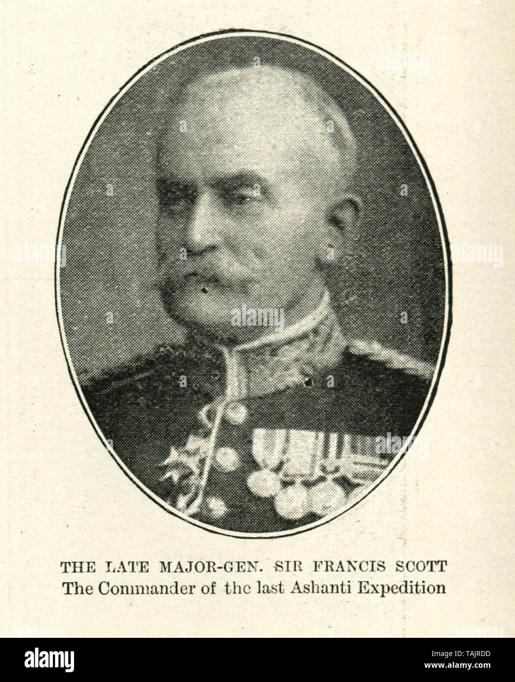 Major-General Sir Francis Cunningham Scott (1834 - 26 June 1902), was a British Army officer, who commanded the Fourth Anglo-Ashanti War 1895-96. Stock Photo