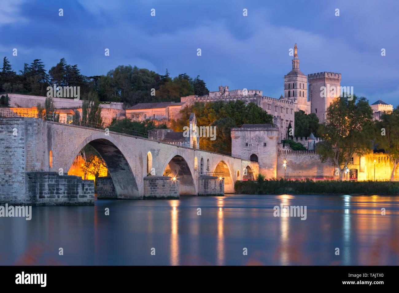Famous Avignon Bridge, France Stock Photo