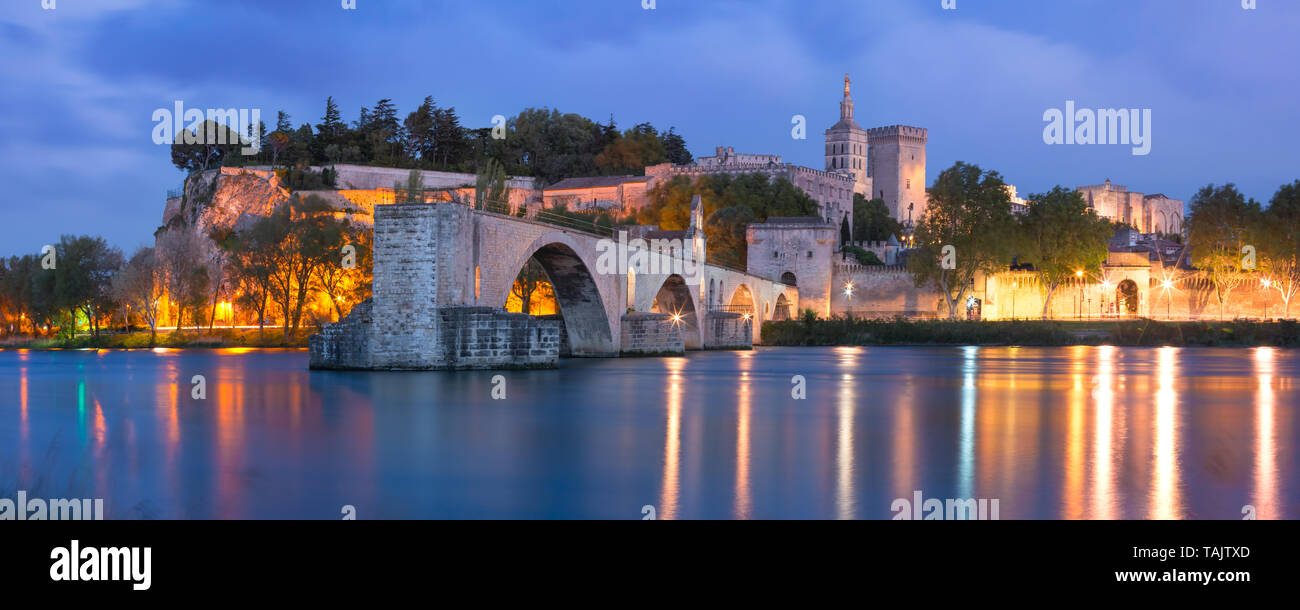 Famous Avignon Bridge, France - Stock Image