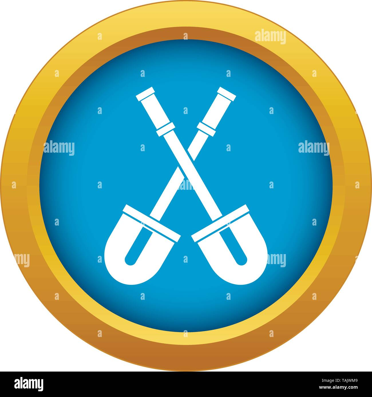 Shovels icon blue vector isolated - Stock Image