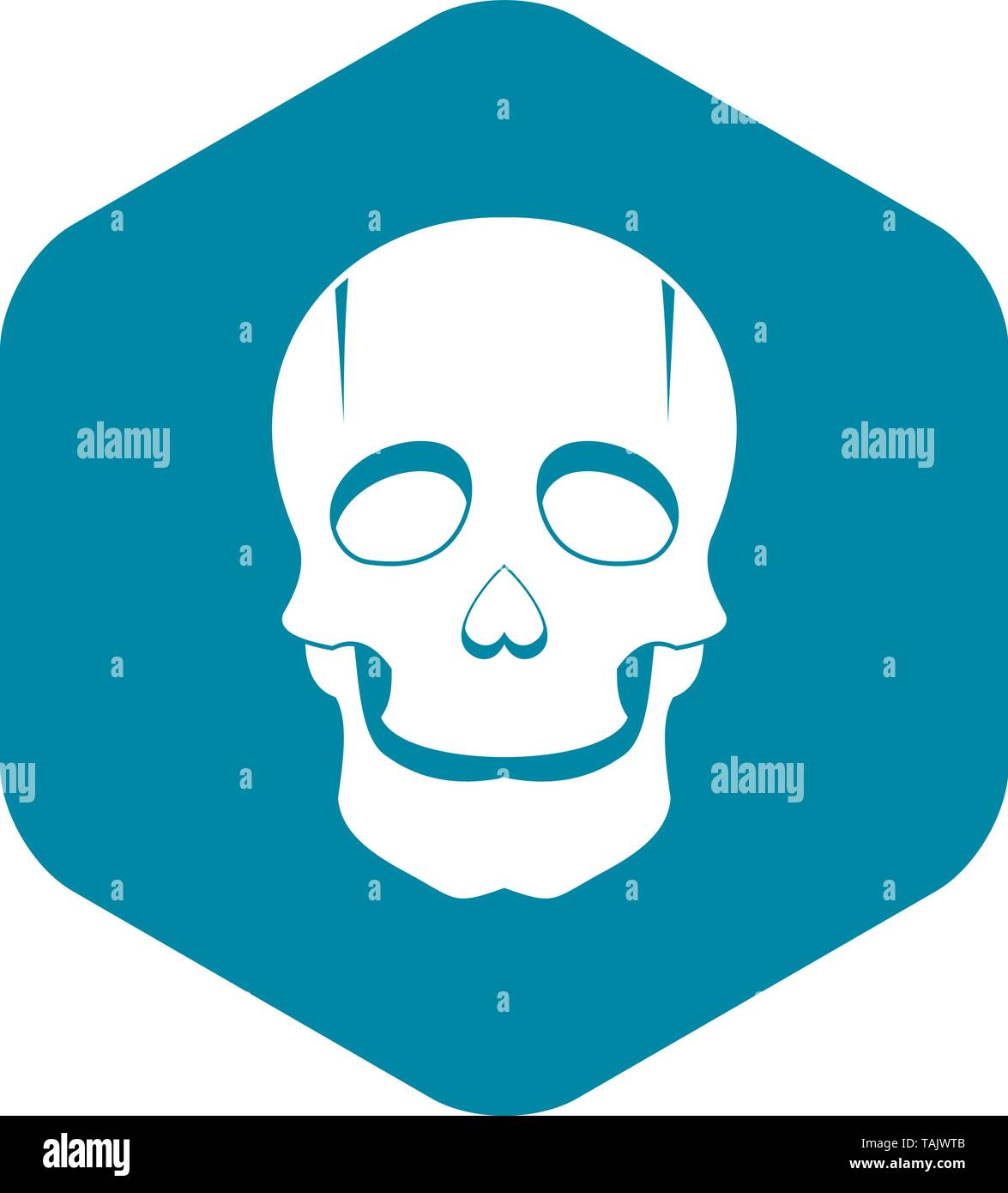Singer mask icon, simple style - Stock Image