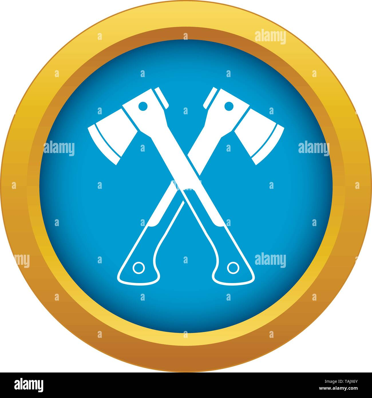 Crossed axes icon blue vector isolated - Stock Image