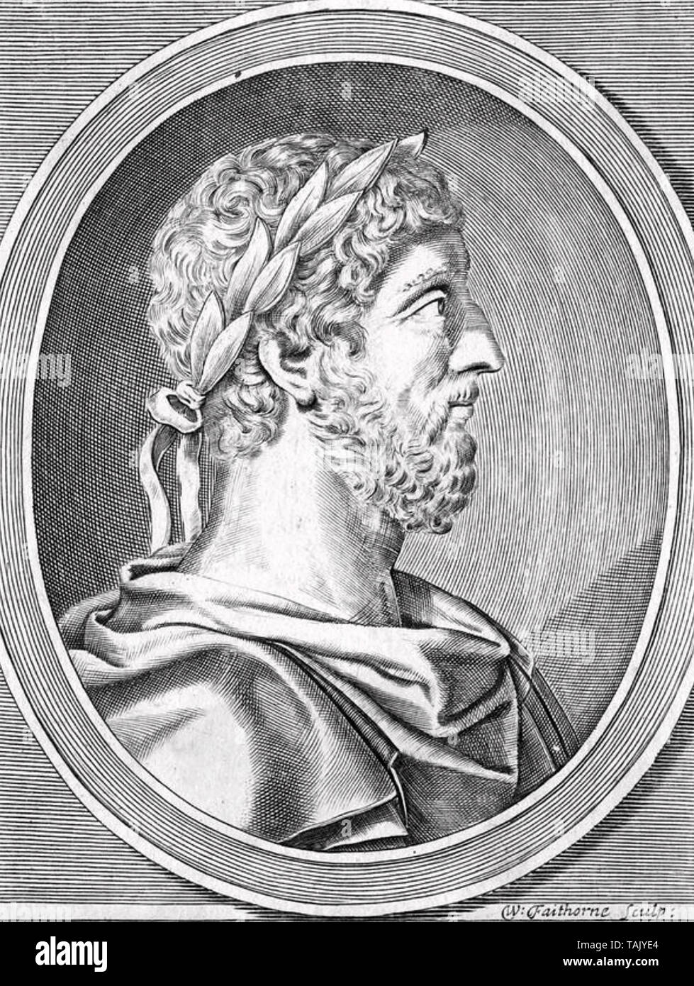 MARCUS AURELIUS (121-180) Roman Emperor - Stock Image