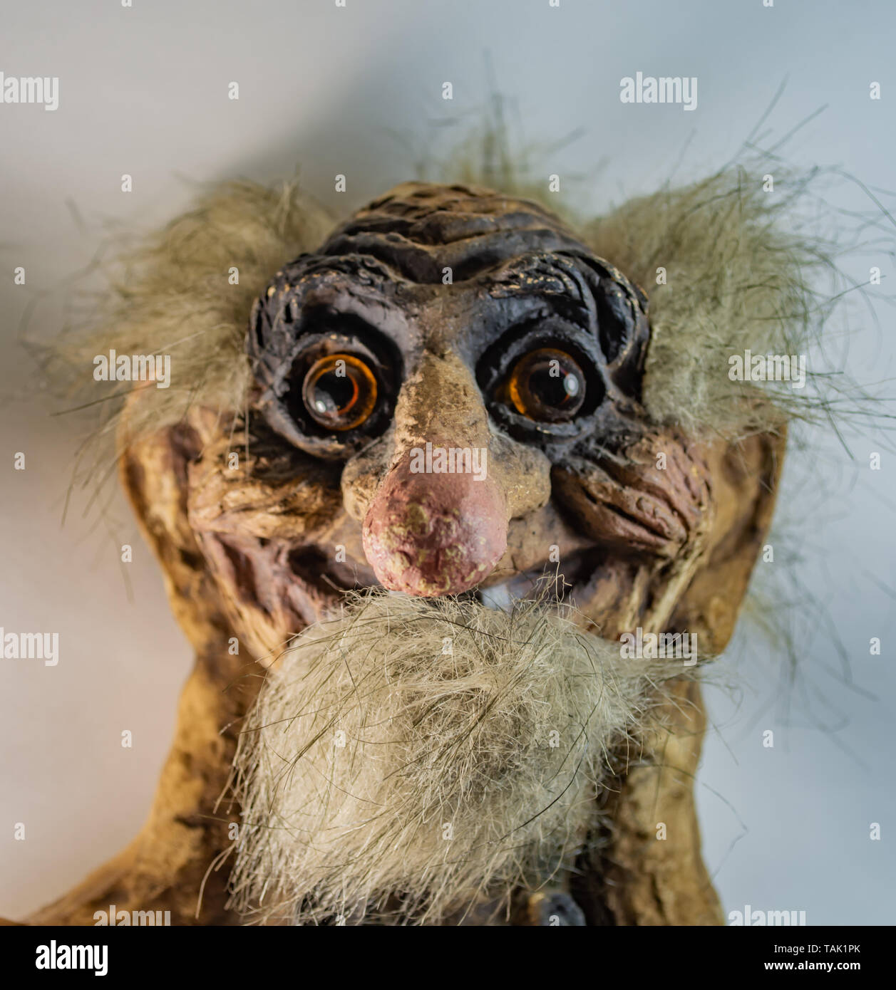 Old Scandinavian  troll - Stock Image