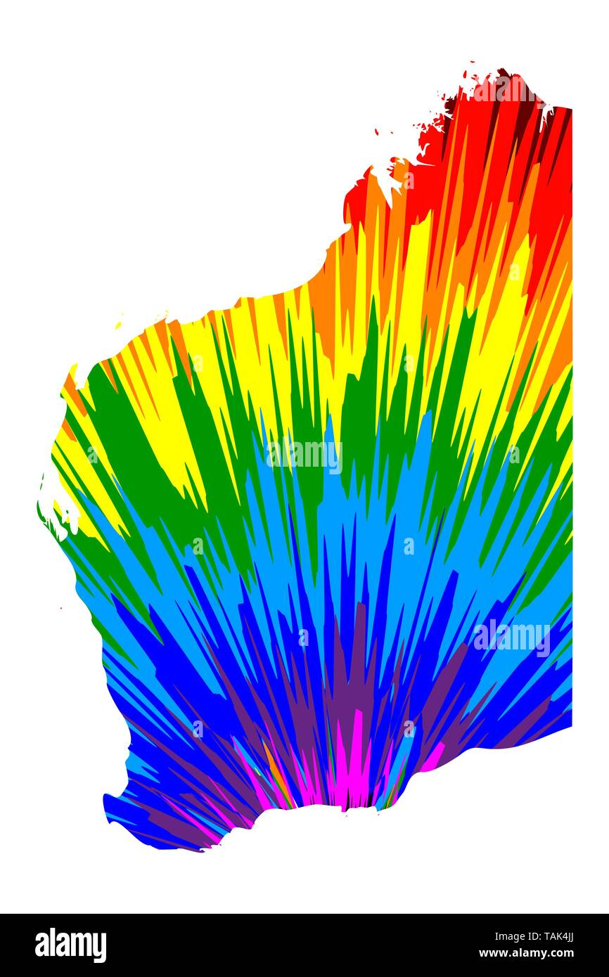 States Of Australia Map.Western Australia Australian States And Territories Wa Map Is