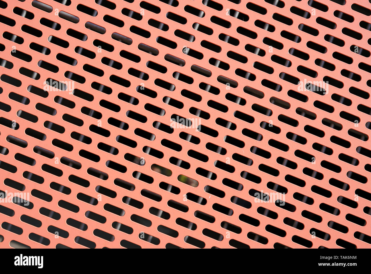 Perforated sheet as facade cladding - Stock Image