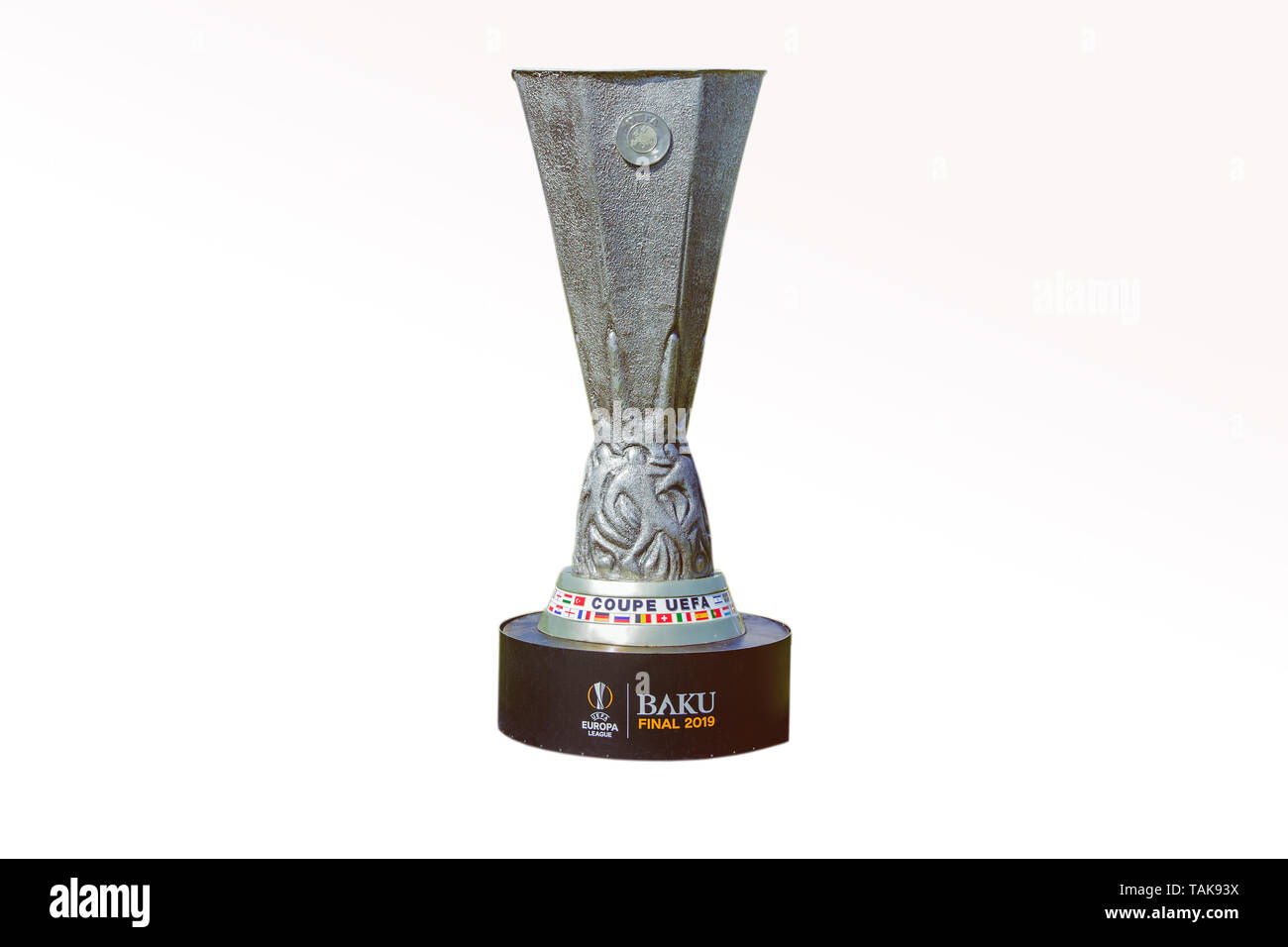 Azerbaijan Baku May 26 Uefa Champions League Uefa Cup White Backgrounds Baku Final 2019 Coupe Uefa Europa League 2019 Stock Photo Alamy