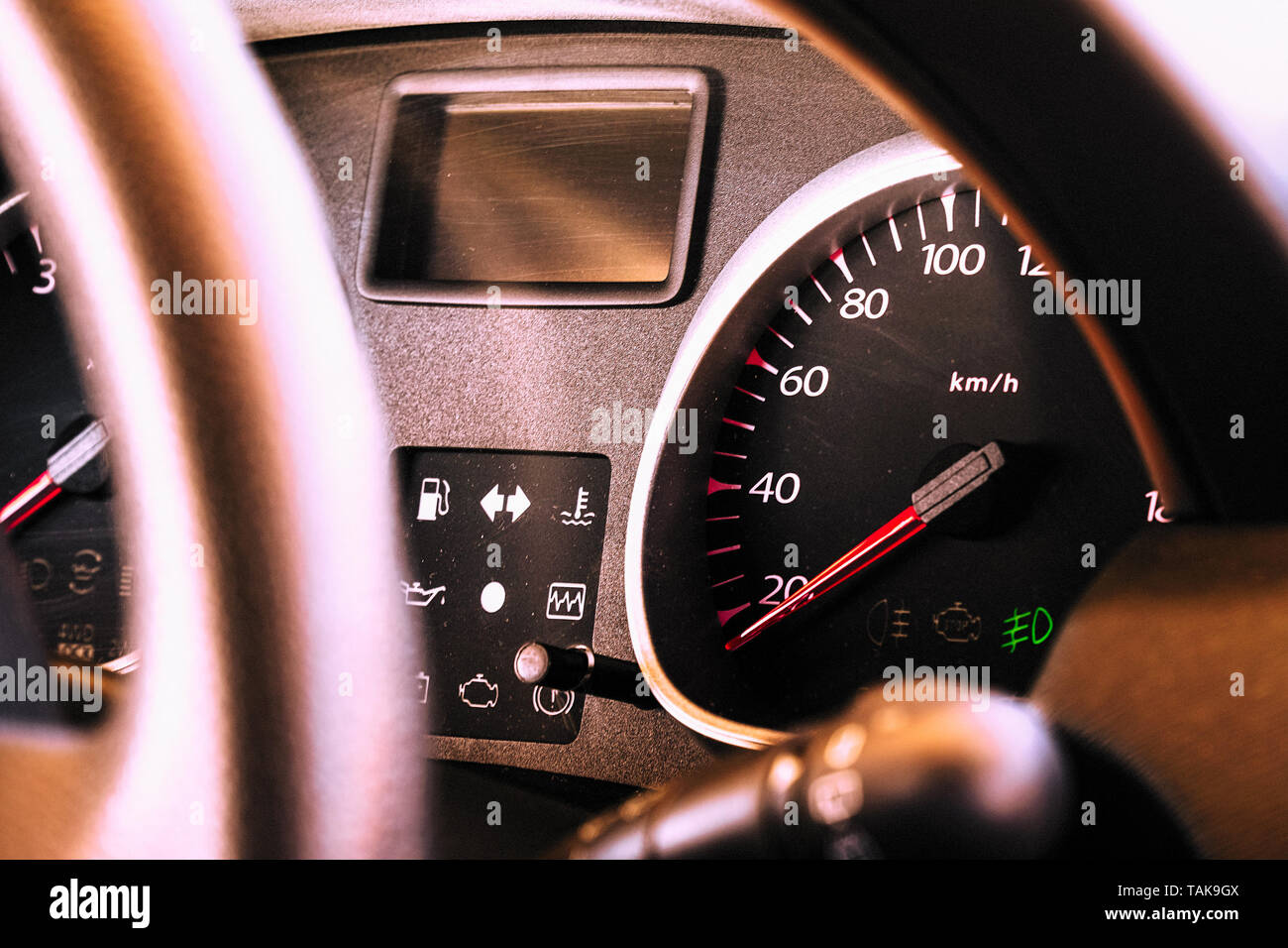 Speedometer and dashboard of the car Stock Photo