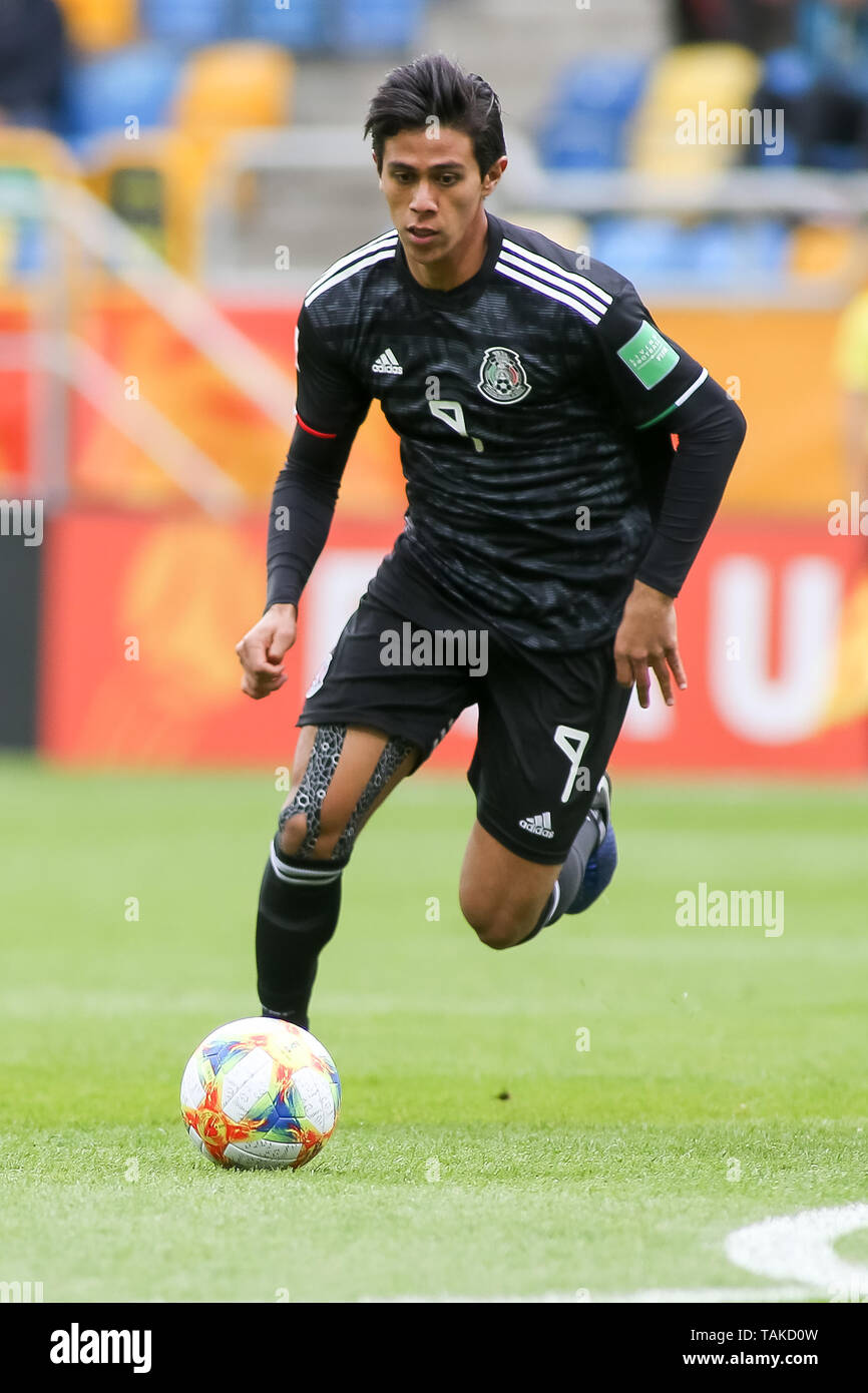 Gdynia Stadium, Gdynia, Poland - 26th May, 2019: Jose Macias from Mexico seen in action during FIFA U-20 World Cup match between Mexico and Japan (GROUP B) in Gdynia. (Final score; Mexico 0:3 Japan) - Stock Image