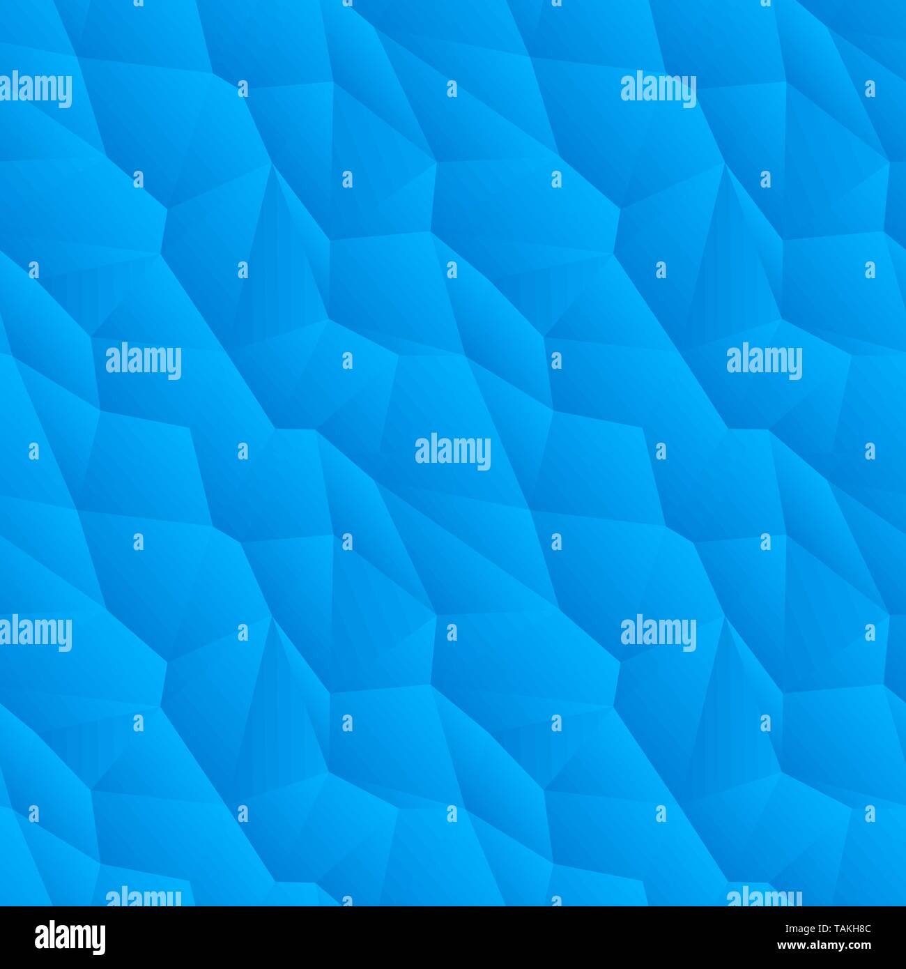 Abstract blue triangulated seamless pattern - Stock Image