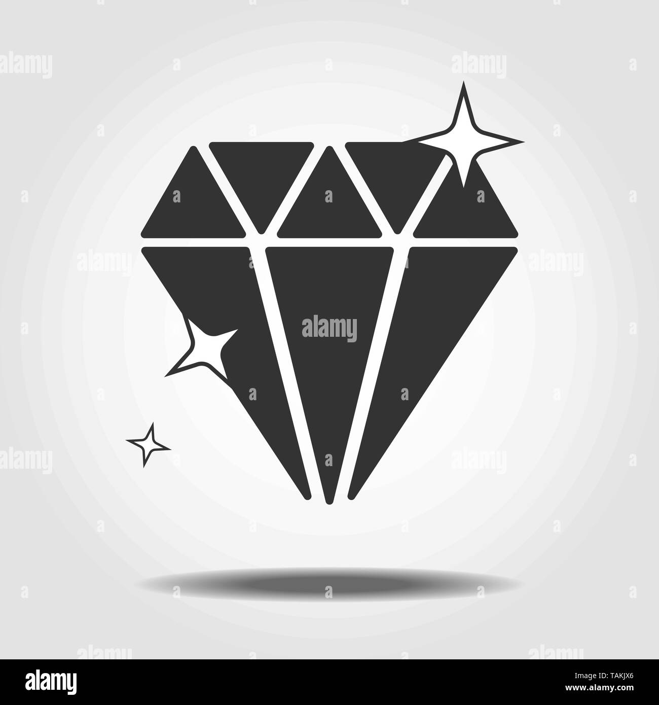 Isolated mineralogy icon symbol on clean background. Vector diamond element in trendy style eps 10 - Stock Image