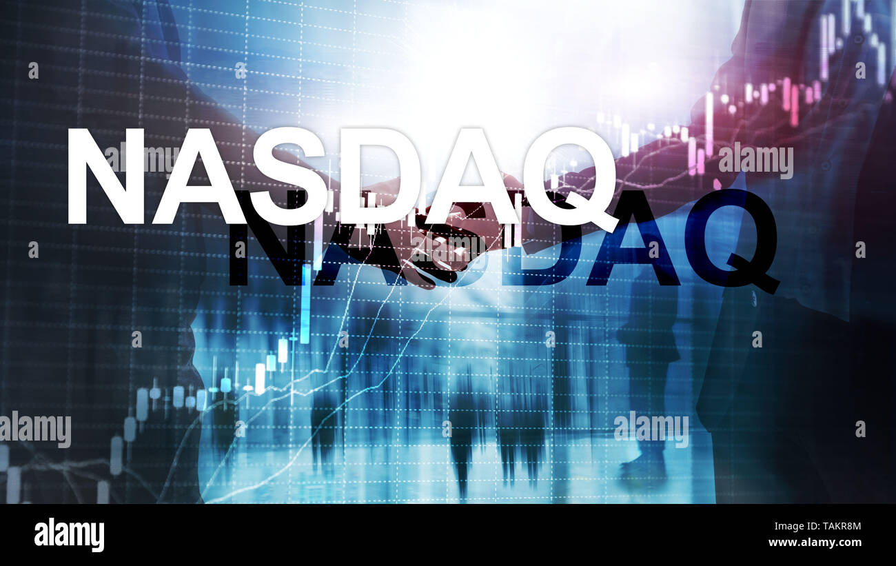 National Association of Securities Dealers Automated Quotation. NASDAQ. - Stock Image