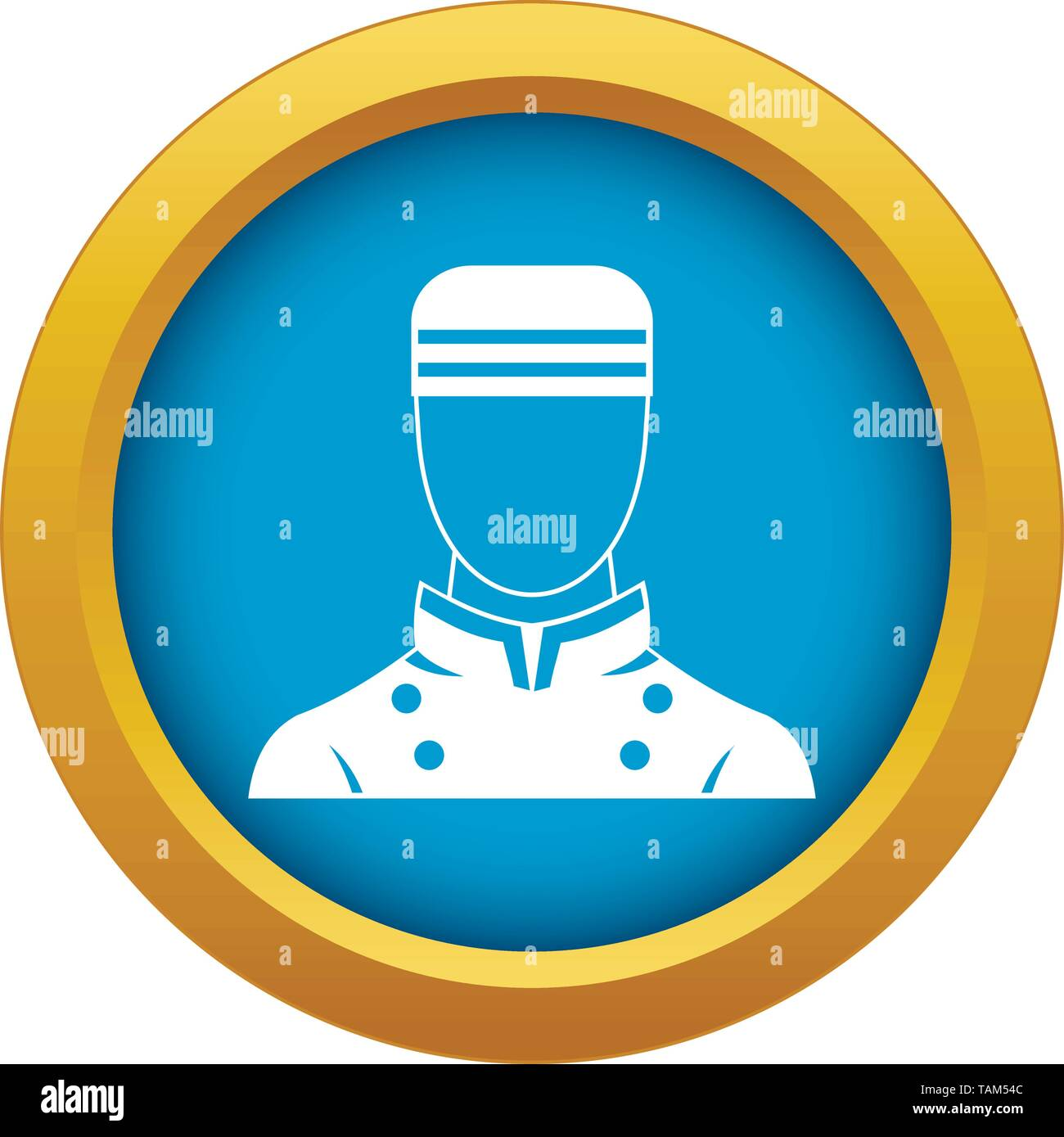 Doorman icon blue vector isolated - Stock Image