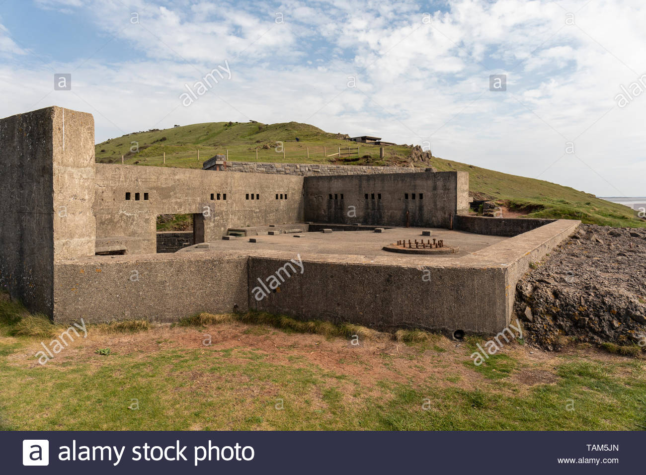 Brean Down Fort, Somerset, England - Stock Image