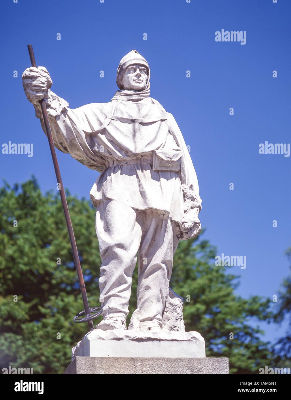 Robert Falcon Scott statue, Worcester Street, Christchurch, Canterbury Region, New Zealand - Stock Image