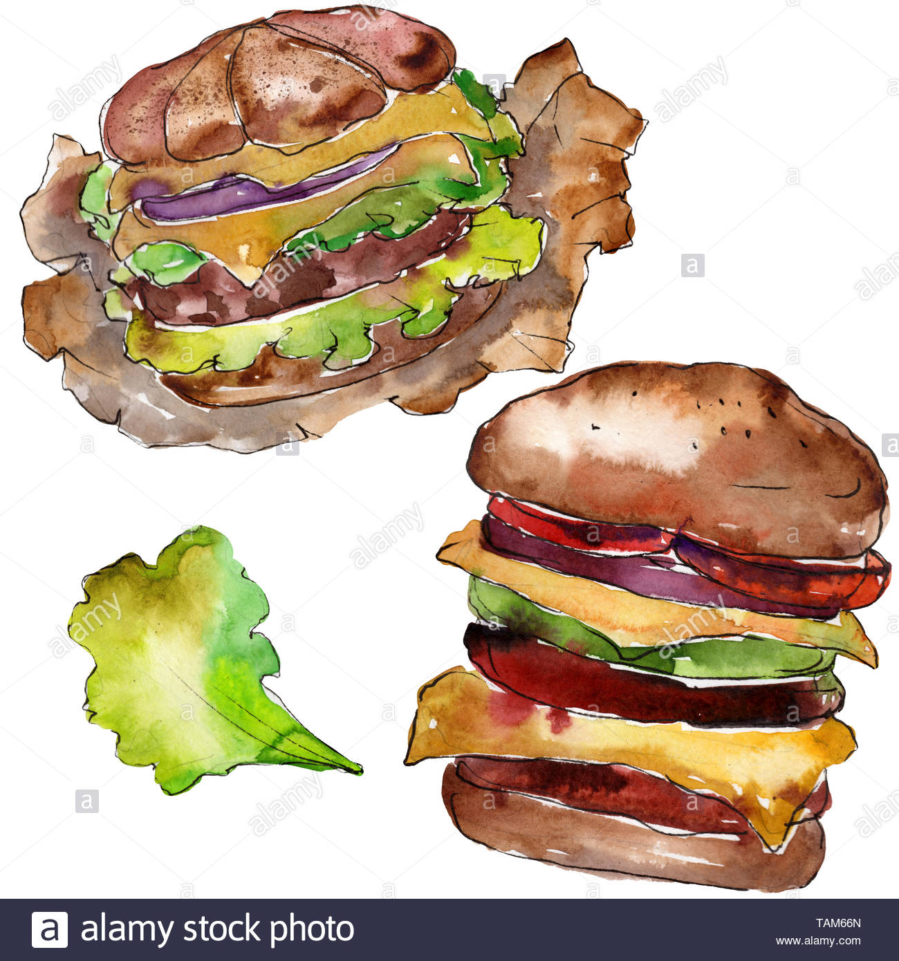Fast Food Burger Sketch Stock Photos Fast Food Burger Sketch Stock