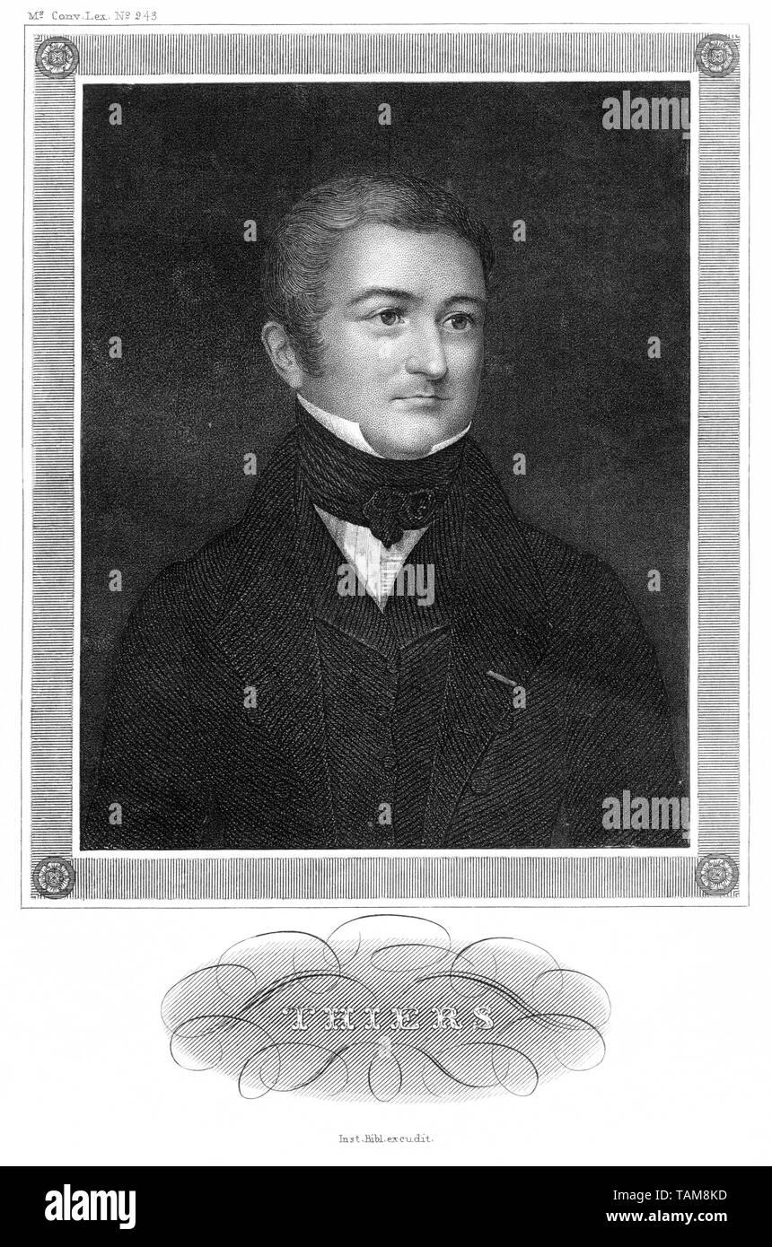 Europa, Frankreich, Marseille, Adolphe Thiers, französischer Politiker und Historiker, Stahlstich, wahrscheinlich in den 1850er Jahren , Inst. Bibl. e - Stock Image