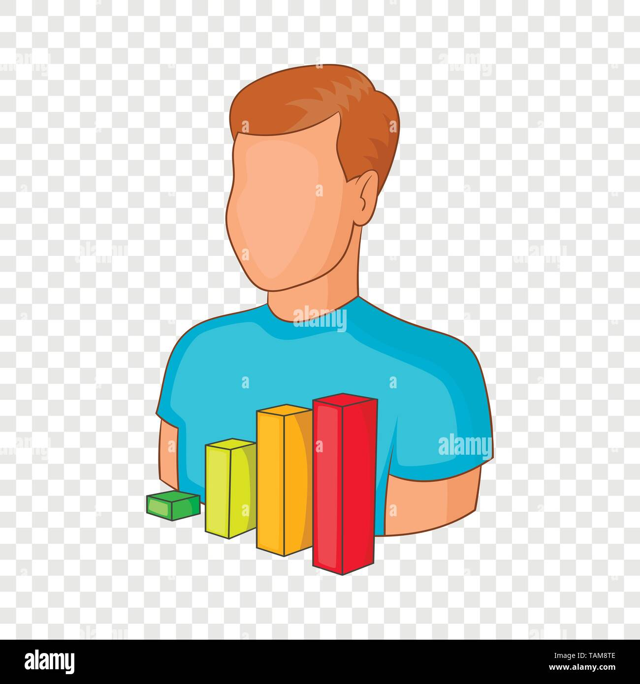 Manager vacancy icon, cartoon style - Stock Image