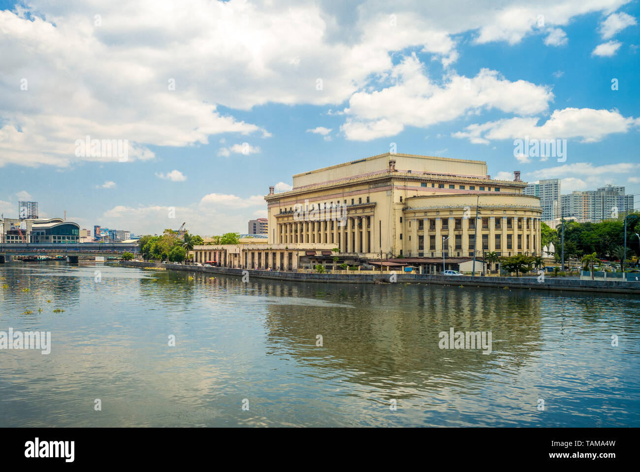 Manila Central Post Office Building in philippines - Stock Image
