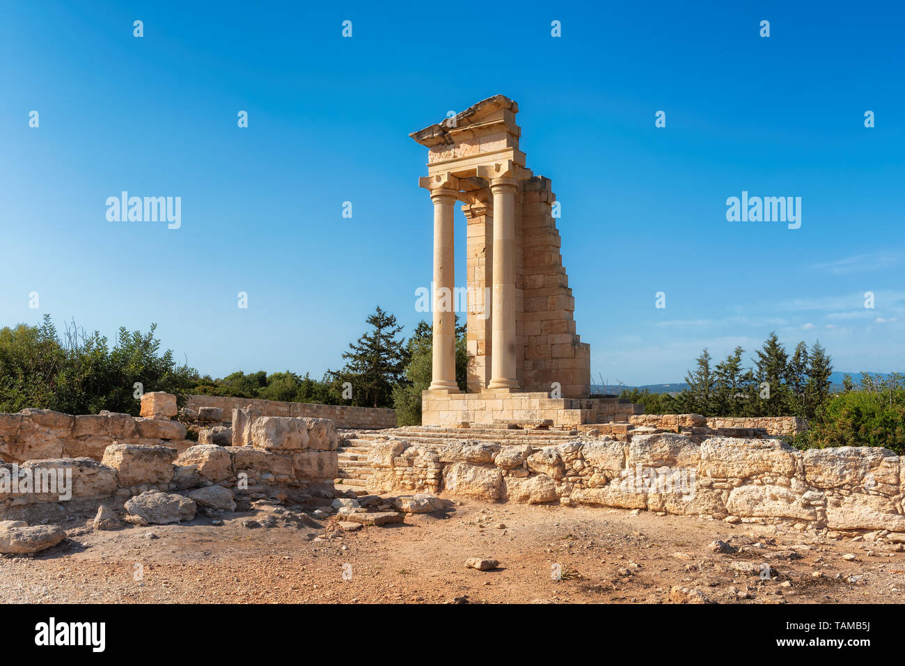 Apollo Hylates - main religious centres of ancient Limassol, Cyprus - Stock Image