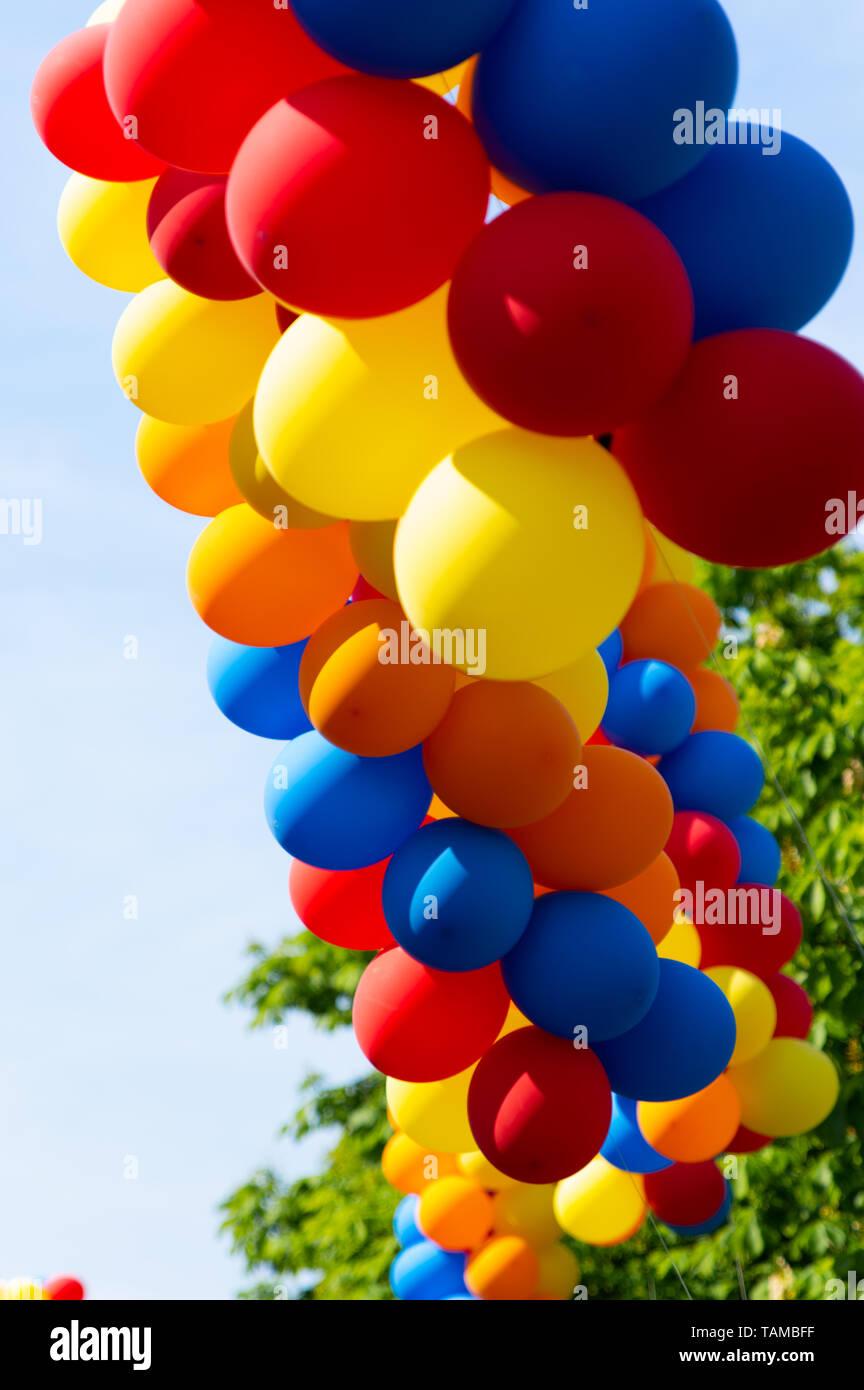 Luftballons im Wind - Stock Image